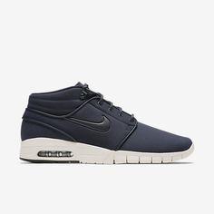 8a09b925c3bc Chaussure de skateboard Nike SB Janoski Max Mid Leather pour Homme  Chaussures De Basket En Cuir