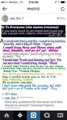 Who would put a son of Poseidon on an island???>>>>>Percy's right! llllllll haha I love Percy so much!!! He's hilarious!