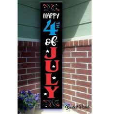 of July Porch wood sign Patriotic Crafts, July Crafts, Summer Crafts, Holiday Crafts, Holiday Ideas, Holiday Decor, Fourth Of July Decor, 4th Of July Decorations, July 4th