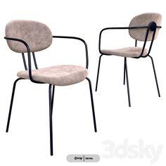 3d models: Chair - Ondarreta Hari Chair 3d Models, Modern Materials, 3d Rendering, D1, Dining Chairs, Furniture, Home Decor, Decoration Home, Room Decor