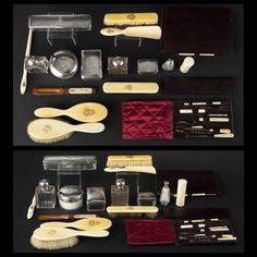 Ce nécessaire de voyage Louis Vuitton fut offert par le futur Nicolas II de Russie (1868-1918) à sa maîtresse française, Louise Octavie Bohy http://www.pure-beaute.fr/2011/10/31/louis-vuitton-un-precieux-necessaire-de-toilette/