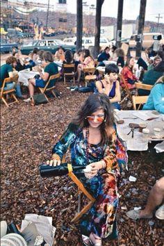 Janis Joplin en Woodstock, 1969. Fotografía de Elliott Landy.