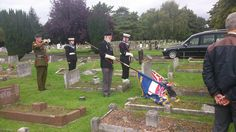 Respect for ex service men and women  honour guard at funeral
