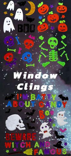 Halloween Gel Clings Window #DecorationsKeep Calm and Scary On - halloween window clings