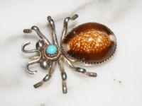 Vintage Native American Silver Bug Pin