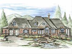 Craftsman Style House Plan - 3 Beds 2.5 Baths 3126 Sq/Ft Plan #54-245 - HomePlans.com Acadian House Plans, Craftsman Style House Plans, Ranch House Plans, Ranch House Remodel, Architectural Design House Plans, Craftsman Exterior, Interior Rendering, Barbie Dream House, House Design