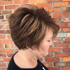 Long Brown Pixie Hairstyle With Highlights