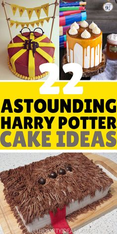 Awesome HARRY POTTER CAKES for boy, girl or unisex. How to make DIY Harry Potter cake for kids, teens adults at birthday party, baby or bridal shower or wedding. Baby Harry Potter, Harry Potter Cupcakes, Baby Shower Harry Potter, Harry Potter Motto Party, Gateau Harry Potter, Harry Potter Birthday Cake, Harry Potter Food, Harry Potter Halloween, Harry Potter Theme Cake