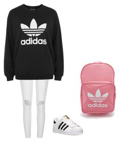 adidas by joseekrampe on Polyvore featuring polyvore fashion style adidas River Island clothing