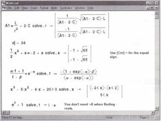 Mathcad 14 solve equation with one variable you ve already defined d and mathcad is trying to use it in the solve equation.. Here are some options that don t result in error.. λύση εξισώσεων με το mathcad mathcad tutorial 3 solving an equation.. Partial differential equation solver.. Relaxation method for a pde.. Damped harmonic oscillation in circuits.. If you encounter problems using your ptc mathcad prime product contact ptc technical support via the ptc web site phone fax or e mail…