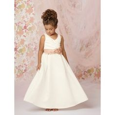 flower girl dress for Mikaela - but with an emerald green sash and flowers