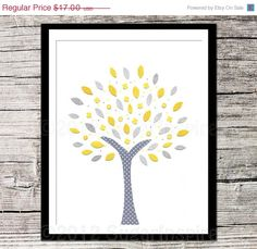 ON SALE 30 OFF Yellow and Grey Nursery Nursery Art by SugarInspire, $11.90