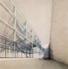 BEAUTIFUL architectural perspective drawing : Academy of Art and Architecture