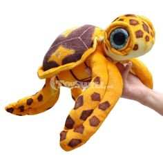 Don't know where to buy vivid simulation animal stuffed toys on hot sale? This is a Finding Dory Crush plush doll being superior in material and excellent in workmanship. It is well-received by Finding Dory fans. Finding Dory, Plush Dolls, Stuffed Animals, Wooden Toys, Action Figures, Crushes, Stuffed Toys, Wood Toys, Stuffed Dolls