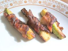 God's Growing Garden: Bacon Wrapped Zucchini Strips
