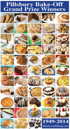 I did it. I made ALL of the Pillsbury Bake-Off Winning Recipes to date! 53 total. All with step-by-step photo instruction on MomLovesBaking.com