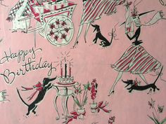 Vintage Gift Wrapping Paper  Dachshunds by TheGOOSEandTheHOUND