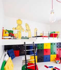 Your kids will love this LEGO-themed bedroom.