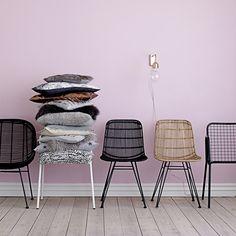 Bloomingville Chair in Sky Blue Braided Rattan