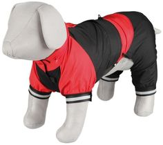 Trixie 30196 Cayres Raincoat For Dogs L 55 Cm Red / Black ** Don't get left behind, see this great  product (This is an amazon affiliate link. I may earn commission from it)