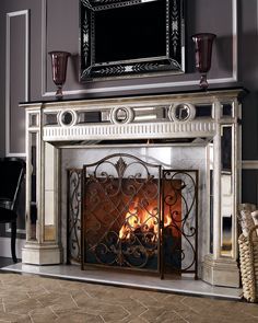 Frontgate Louviere Fire Screen | Designs - Fireplaces | Pinterest ...