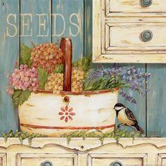 Seeds Canvas Art - Jo Moulton x Decoupage Vintage, Decoupage Paper, Vintage Ephemera, Vintage Paper, Posters Vintage, Vintage Images, Decoupage Printables, Pintura Country, Tile Murals