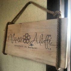 Insegne-targhe in legno pirografate personalizzate. Grazie Edda e Mauro