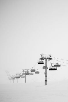 Life on Sundys, ski lift,  black & white photography | winter . Winter . hiver | Artist / Künstler: Haze |