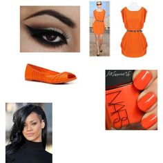 """""""orange haliegh for harry"""" by swagqueen33 on Polyvore"""