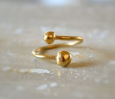GOLD OPEN RING by illuminancejewelry