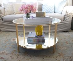 adventures in gold leafing and mirroring ikea vittsjo coffee table