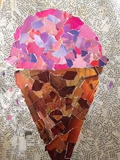 grade students finished their collages and they look AMAZING! We used magazines to create a simple picture. We wanted the colors to be . Collage Kunst, Paper Collage Art, Collage Drawing, Collage Art Mixed Media, Collage Artwork, Kids Collage, Simple Collage, Kids Art Class, Art For Kids