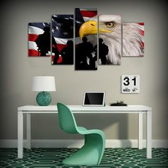 US Flag with the Bald Eagle Canvas Print