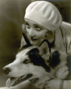 Lombard and her pooch.