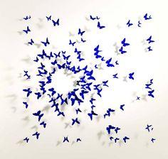 recycled BUTTERFLIES and BIRDS by New York Artist Paul Villinski + Fashionista Raffaella Riccio