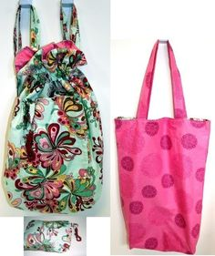 Reversible Compact Backpack And Tote In One Free Key Fob Sewing Tutorial