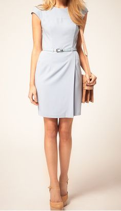 Powder Blue Dress - My favorite spring dress for work