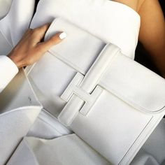 Hermes Jige Clutch - Designer Authentication Services for Handbags, Shoes, Fine Jewelry & Accessories Hermes Clutch, Hermes Bags, Chanel Bags, White Chanel Bag, Hermes Handbags, Clutch Bags, Luxury Handbags, Purses And Handbags, Fall Handbags