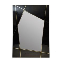 Large Black Pen Shell and Brass Mirror