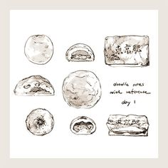 Food Drawing, Painting & Drawing, Food Illustrations, Illustration Art, Fountain Pen Drawing, Food Doodles, Food Pictures, Food Pics, Types Of Art