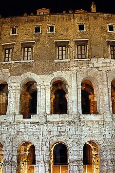Theatre of Marcellus, Rome. Ancient Ruins, Ancient Rome, Ancient Greece, Ancient History, Visit Rome, Roman Theatre, Monuments, Roman Architecture, Places In Italy