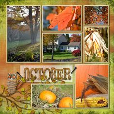 Making memories, capturing moments -- she used Autumn Breeze Digital Kit from Creative Memories for Storybook 4.0