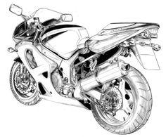 old pencil tight stuff 03 by ~anchan on deviantART Motorcycle Art, Bike Art, Motorbike Drawing, Mountain Biking Quotes, Bike Sketch, Bike Room, Bike Illustration, Bike Quotes, Bicycle Painting