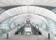 Completed in 2006 in Bangkok, Thailand. Images by Rainer Viertlboeck. The Suvarnabhumi Airport is constructed on a greenfield site 24 km east of Bangkok. The first phase, accommodating 45 million annual passengers will...
