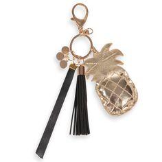 Porte-clés ananas en métal BLACK