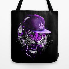 Sound Trip Tiger Tote Bag by moncheng - $22.00
