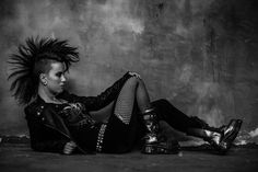 Punk fashion photography