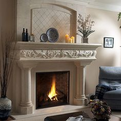 Stone Fireplace Mantels Stone Fireplace Mantel