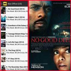 No Good Deed is the #1 Movie in America !!!