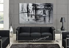 Minimalist, BLACK AND WHITE Painting, Abstract Art 0n canvas, Original Art signed and Hand made by Maitreyii